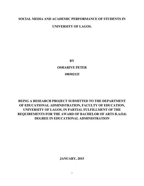 thesis about social media and academic performance social media and academic performance of pdf download