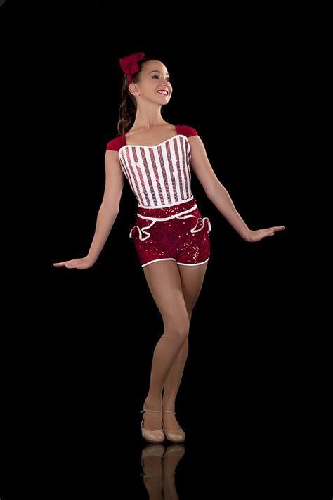 white stripe costume jazz tap pin up aerial