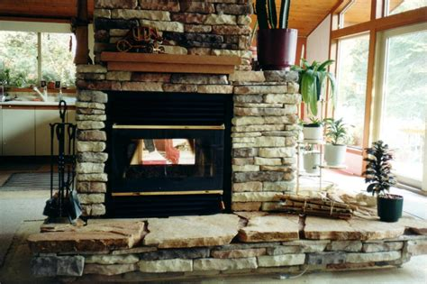interesting images of see through fireplace design ideas
