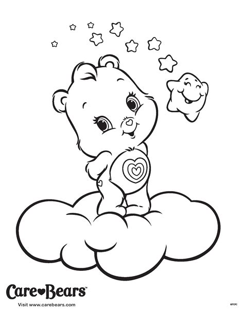 coloring pages care bears printing care bear coloring pages free printable pictures