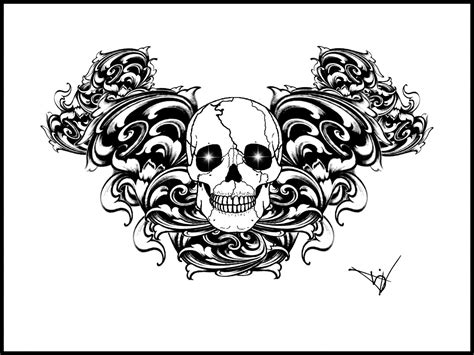 tattoo gothic designs armband designs skull protection
