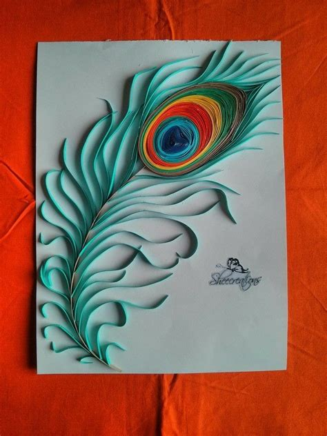 How To Make Peacock Feather With Paper - 139 best images about quilling peacocks on