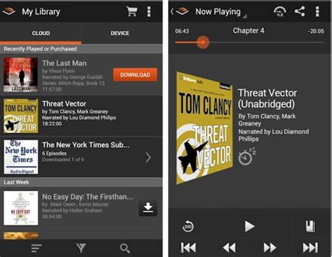 audible for android audible for android gets design overhaul improved library management and more