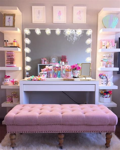 7 Pretty Home Decor Themes by 23 Diy Makeup Room Ideas Organizer Storage And