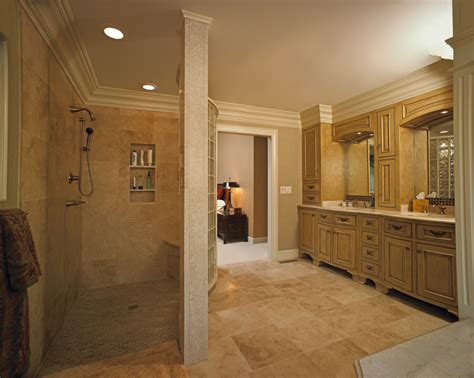 walk in bathroom shower designs custom vanity and walk in shower