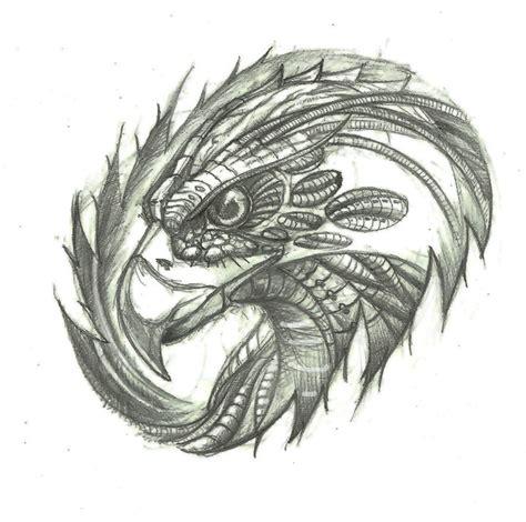 tattoo eagle sketch bimechanical eagle head design for tattoo by dzsedi on