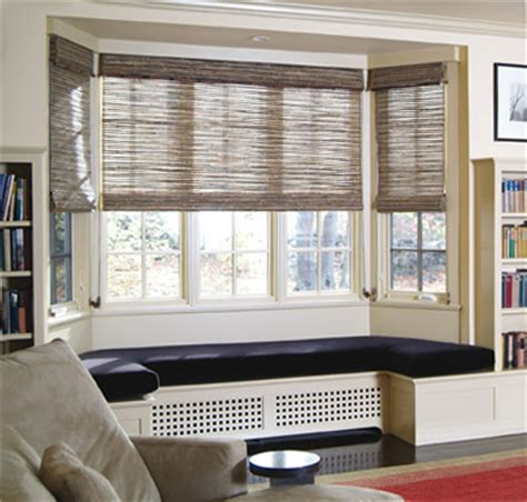 Shades For Bay Windows Adorned Abode Privacy Treatments For Bay Windows