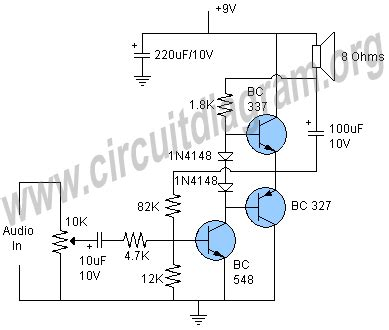 one transistor lifier audio simple transistor audio lifier circuit diagram
