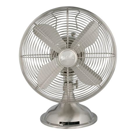 small metal table fan retro 12 in 3 speed oscillating personal table fan