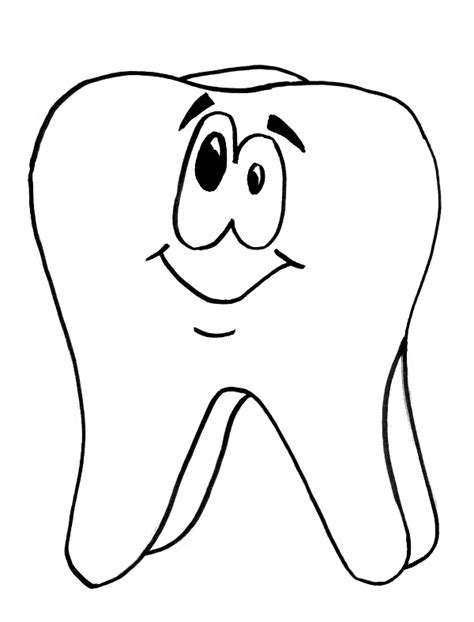 template of tooth coloring page coloring pages