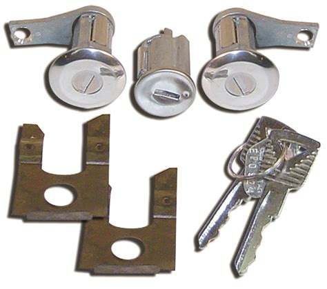 Matching Door Locks by Door Lock Set W Matching Ignition Cylinder 1961