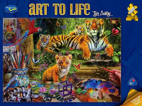 painting puzzle tiger painting 1000 jigsaw puzzle puzzle palace