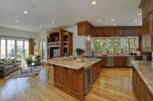 plan de cuisine ouverte sur salon cuisine en image