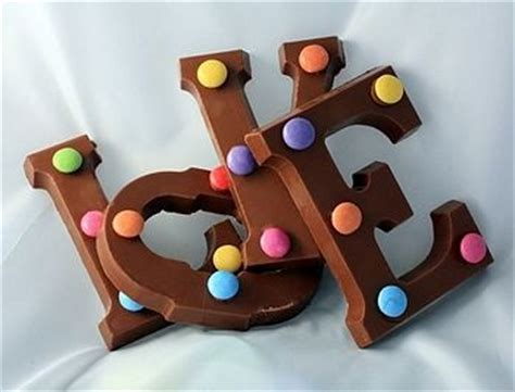 up letter to chocolate chocolate alphabet