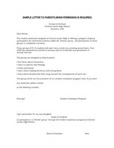 Permission Letter Of Parents Permission Letter To Parents