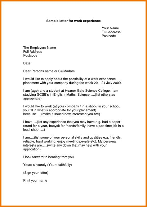 writing internship cover letter 10 application letter for work tech rehab counseling