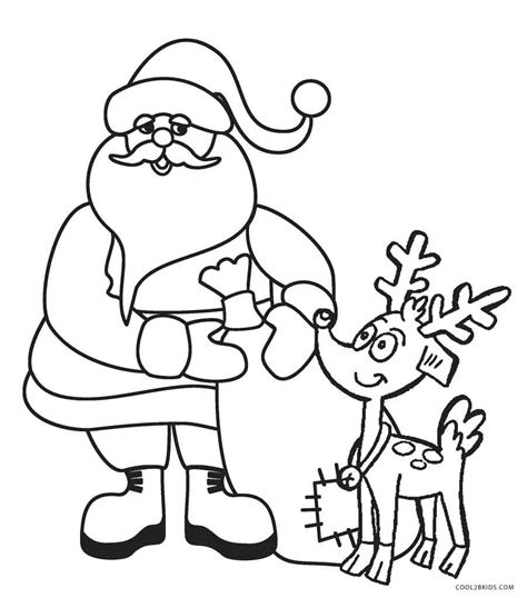 printable coloring pages free printable santa coloring pages for cool2bkids