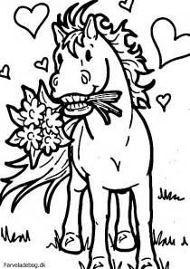 Heste Tegninger Colouring Pages sketch template