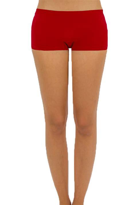 womens seamless stretch shorts spandex workout mini safety