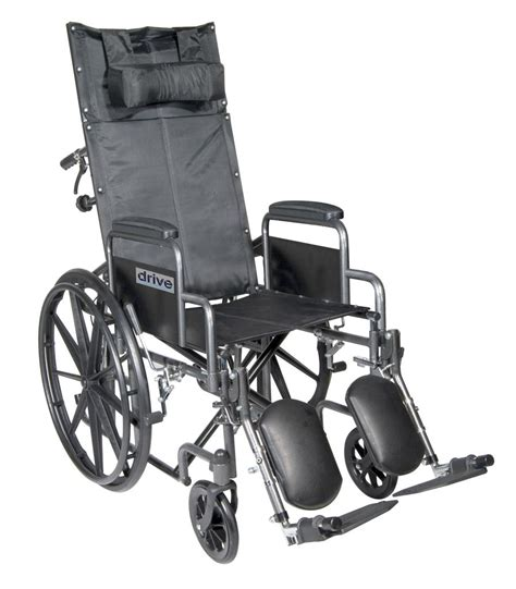 Best Reclining Wheelchair by Drive Silver Sport Reclining Wheelchair With Detachable Desk Length Arms And