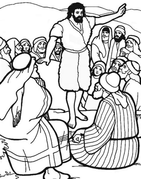 coloring pages for the baptist search results for worksheets for the baptist