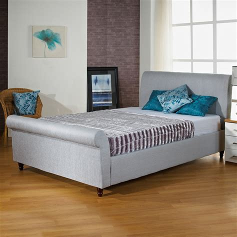 fabric sleigh bed hf4you sophie fabric upholstered sleigh bed fast
