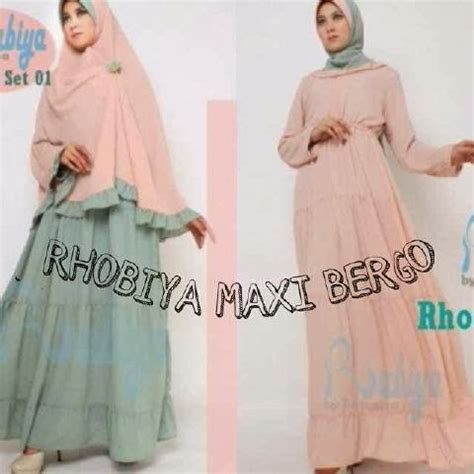 Maxi Bahan Jersey Bergo vkoy boutique supplier butik hijabers rhobiya maxi