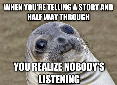 Seal Meme - awkward seal meme
