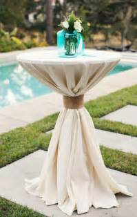 cocktail table linens wedding