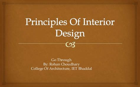 elements of interior design slideshare principles of interior design