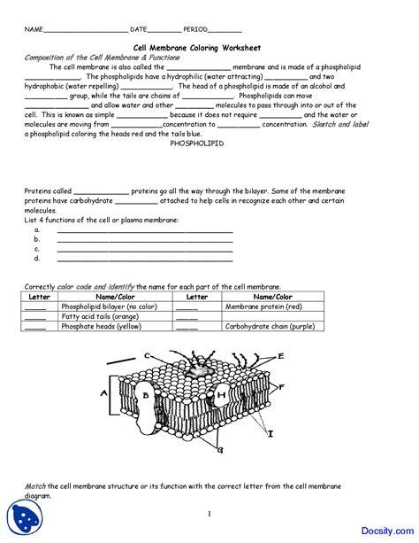 worksheet cell membrane  tonicity worksheet cell