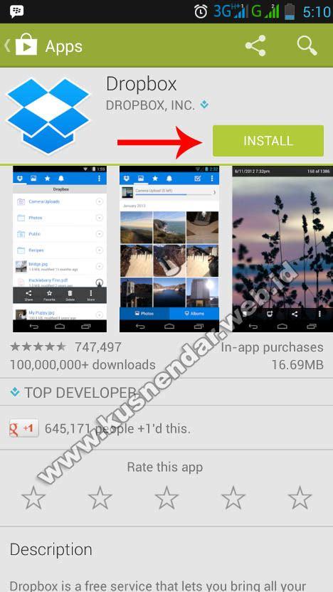dropbox tidak bisa di install cara menggunakan dropbox di android dilengkapi gambar