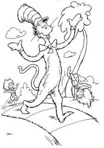 printable coloring pages for cat in the hat search