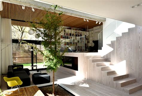 split level home interior spectacular play of volumes and materials into modern split level house