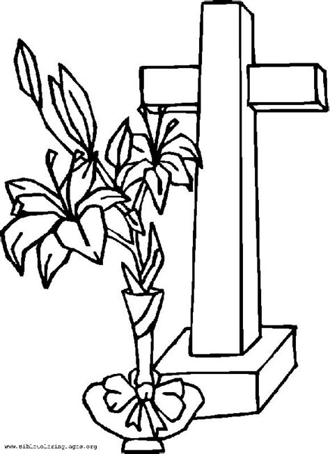 cross coloring pages cross with flowers coloring pages