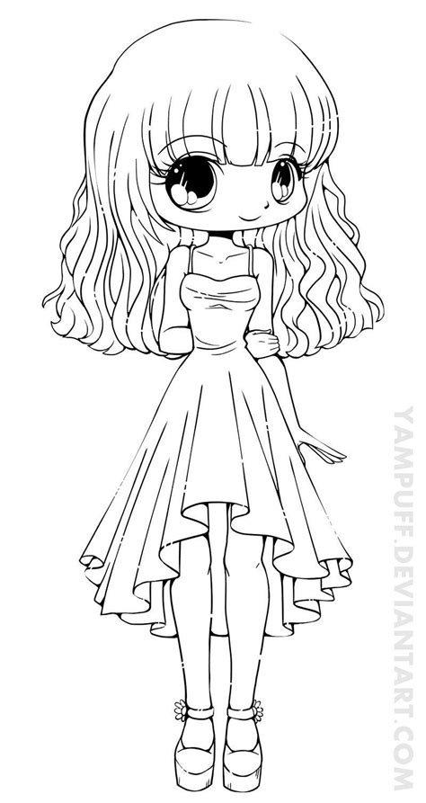 coloring page person cute chibi bunny coloring pages grig3 org