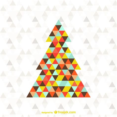 abstract triangle christmas tree free vector 123freevectors