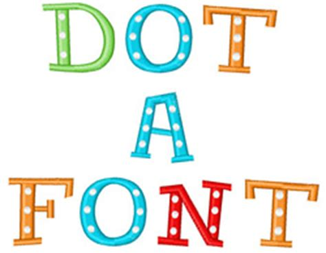 pattern dots free font dot font by embroidery patterns home format fonts on