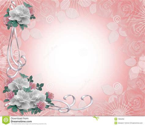 Cadre Card Templates by Roses De Cadre D Invitation De Mariage Illustration Stock