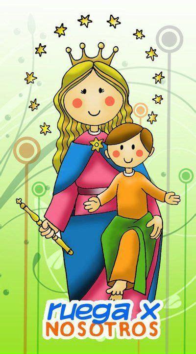 imagenes virgen maria infantil virgen del rosario caricatura buscar con google