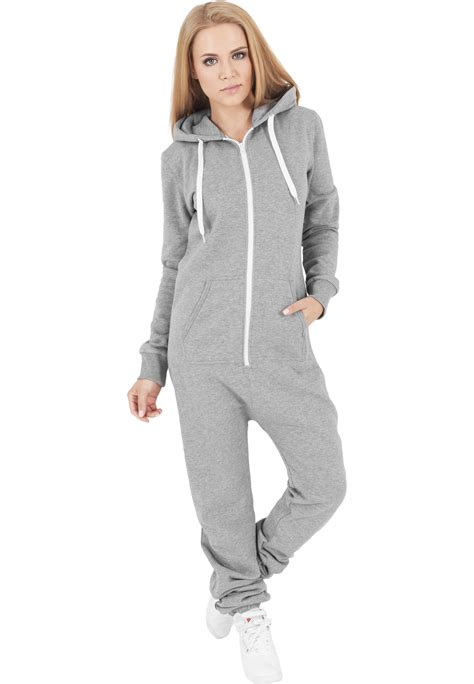 Overall Jumpsuit Overall classics sweat jumpsuit overall grey white 116740 at hoodboyz