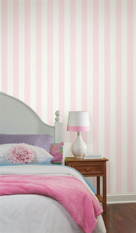 white and pink striped wall contemporary bedroom pink and white striped bedroom