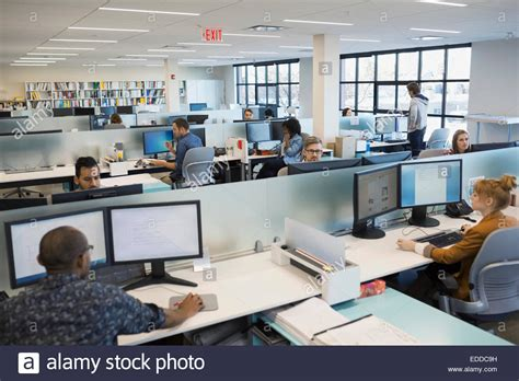 office work images business people working in open office stock photo