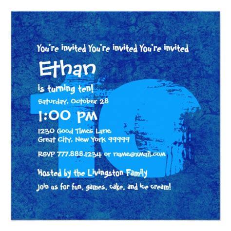 free printable 10 year old birthday invitations drevio