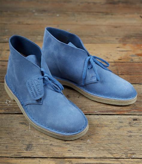 clark s light blue suede desert boots sneakers