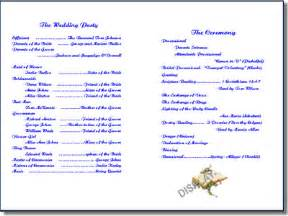 christian wedding program wedding program templates from thinkwedding s print your own wedding stationery collection