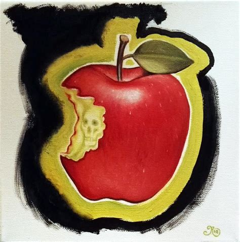 Apple February painting 23 february challenge ria parfitt