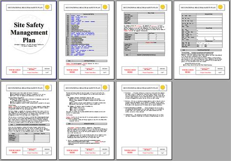 workplace safety templates site specific safety plan template template design