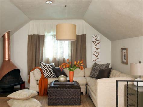 attic apartment calm earthy attic apartment hgtv