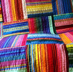 multi striped quilt by uniquelynancy on etsy
